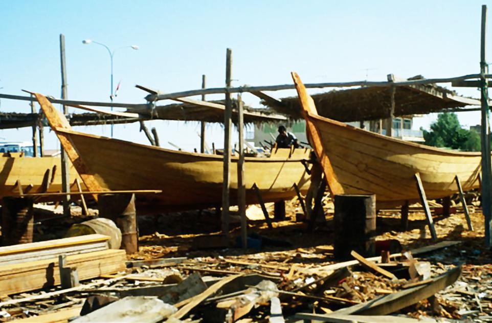 Ajman dhow building yard